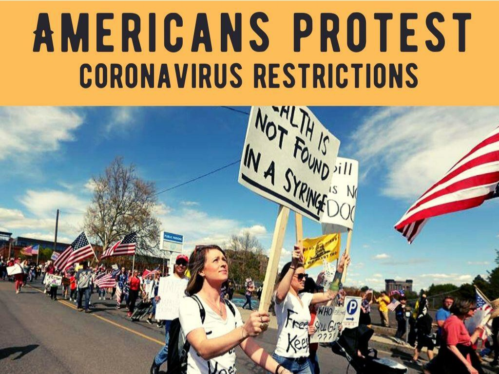 americans protest coronavirus restrictions l.