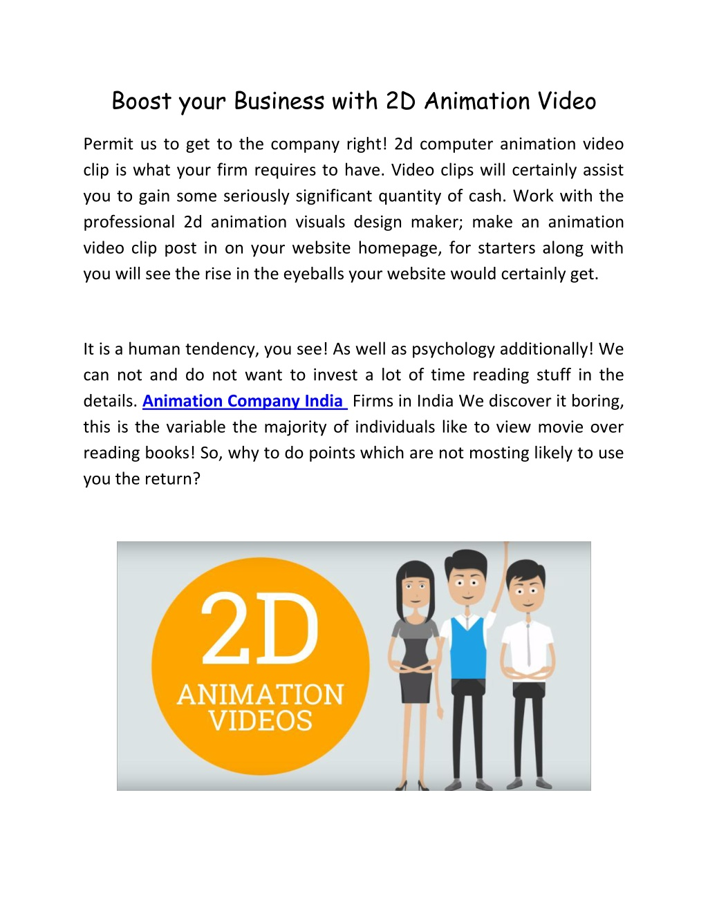 boost your business with 2d animation video l.