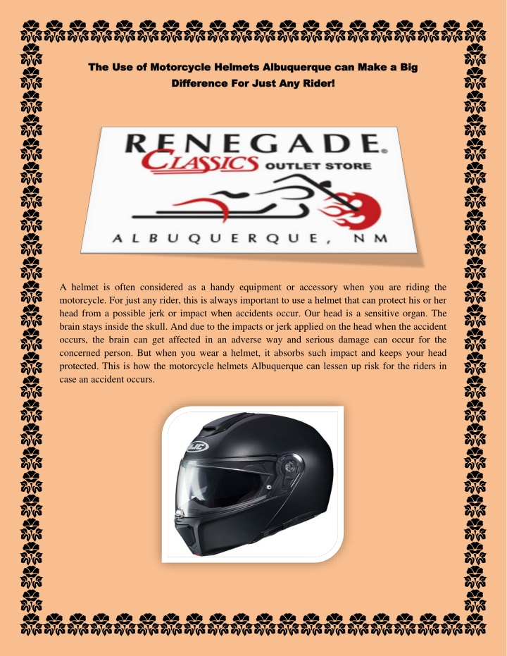 the use of motorcycle helmets albuquerque n.