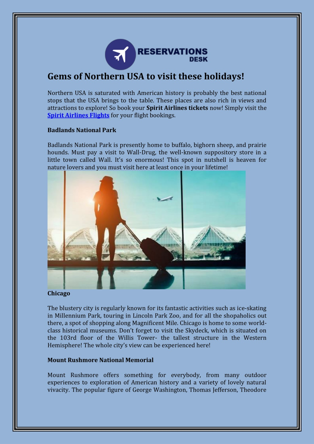 gems of northern usa to visit these holidays l.