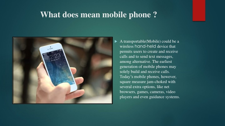 what does mean mobile phone n.