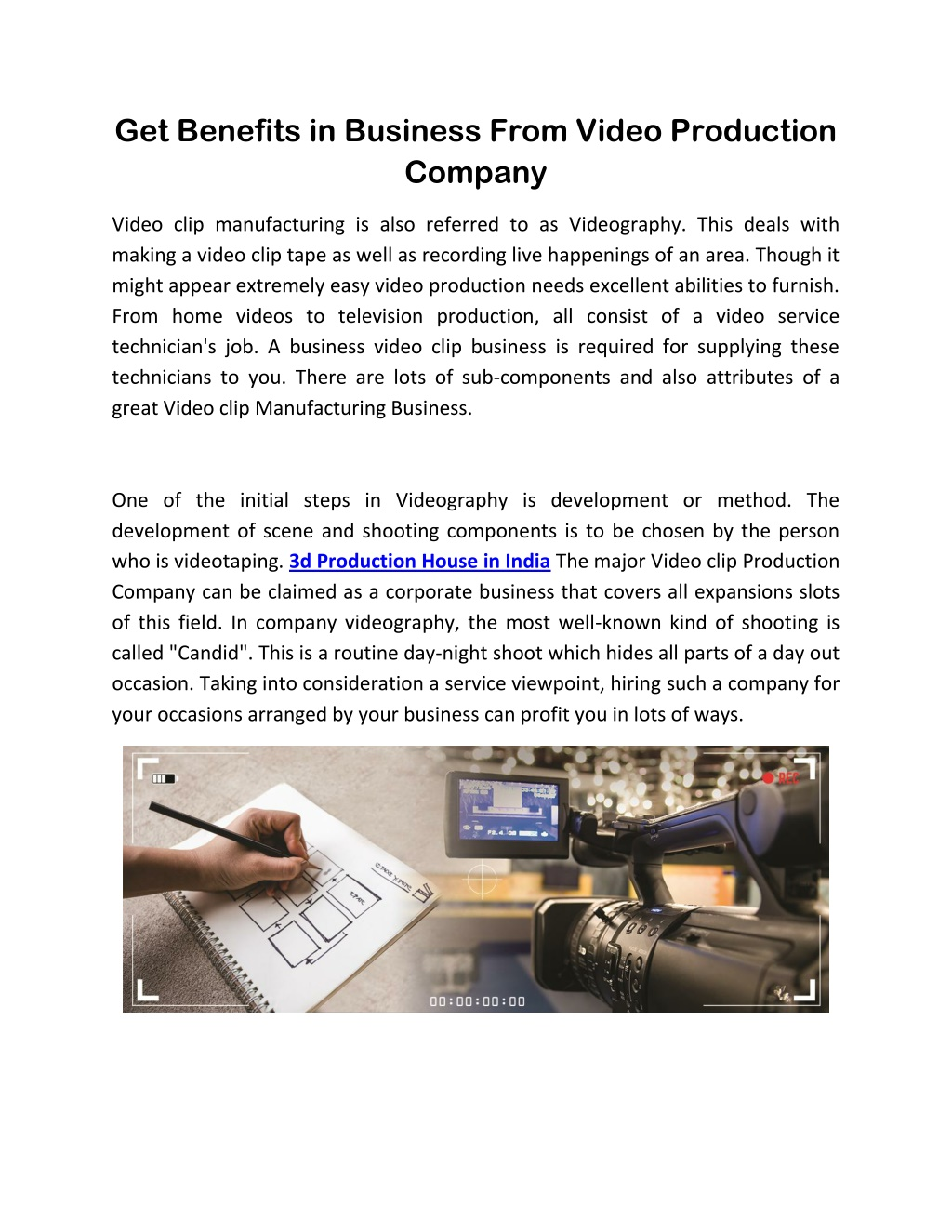 get benefits in business from video production l.