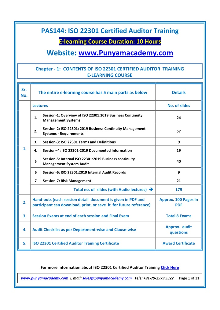 pas144 iso 22301 certified auditor training n.