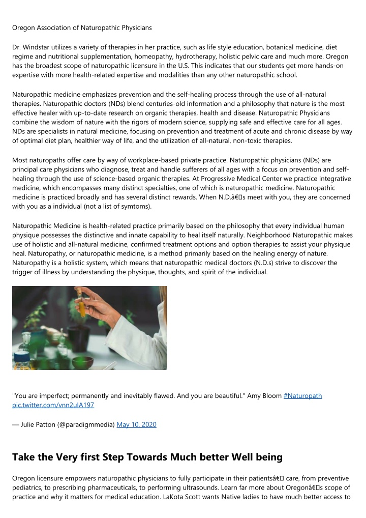 oregon association of naturopathic physicians n.