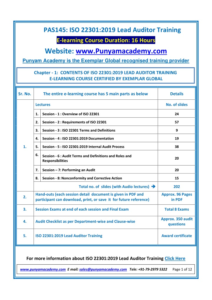 pas145 iso 22301 2019 lead auditor training n.