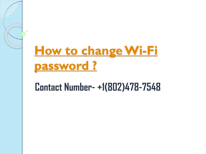 how to change wi fi password n.