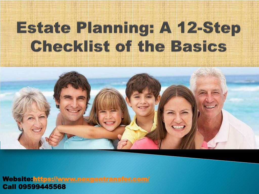 estate planning a 12 step checklist of the basics l.