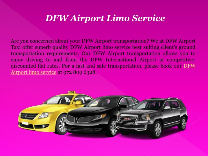dfw airport limo service n.