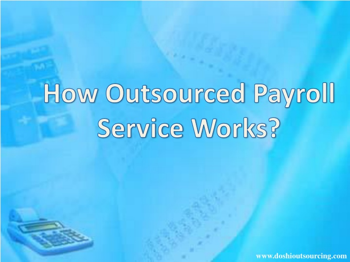 how outsourced payroll service works n.