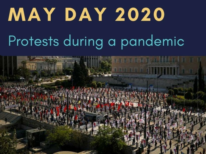 may day protests during a pandemic n.