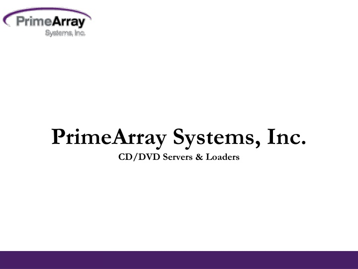 primearray systems inc cd dvd servers loaders n.