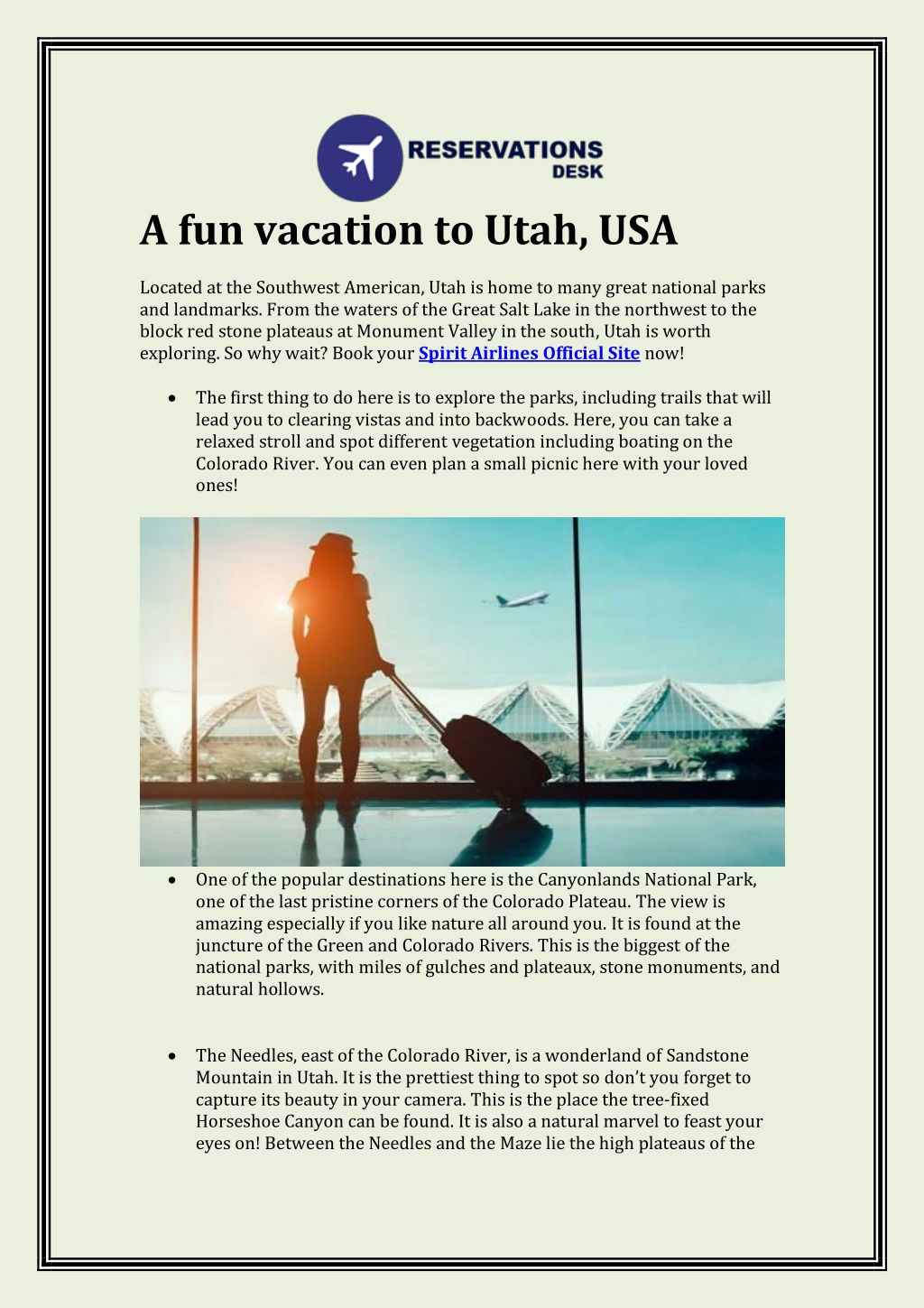 a fun vacation to utah usa located l.