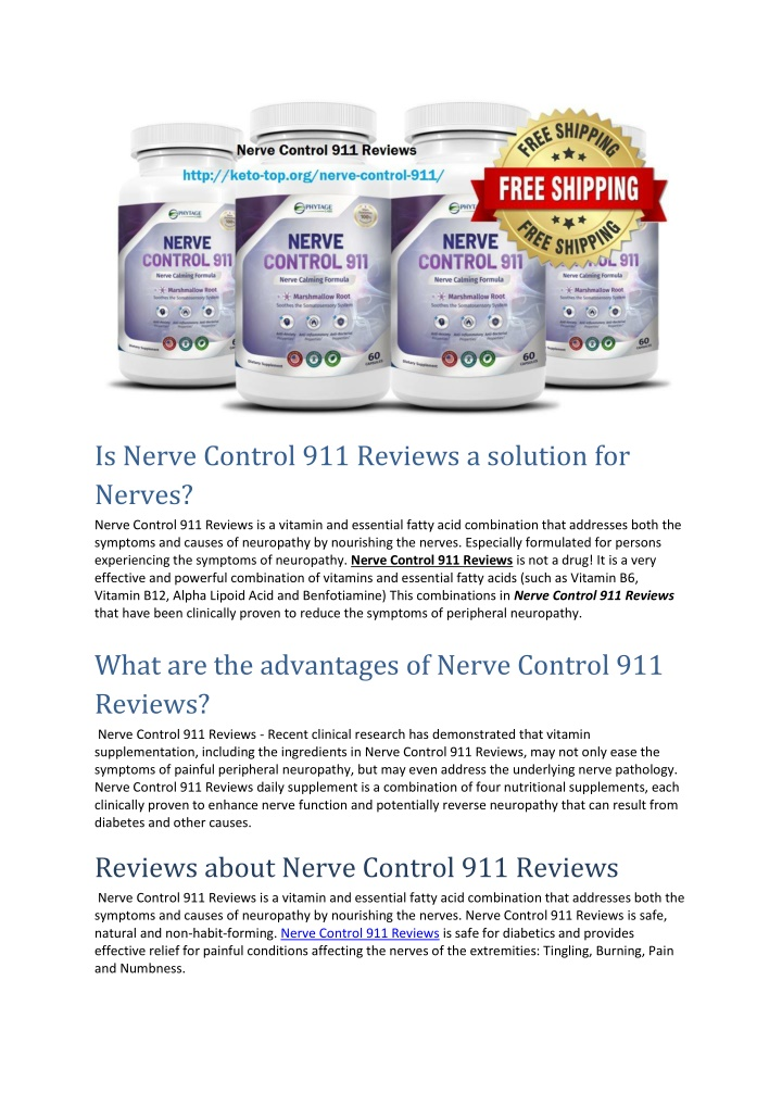 is nerve control 911 reviews a solution for nerves n.