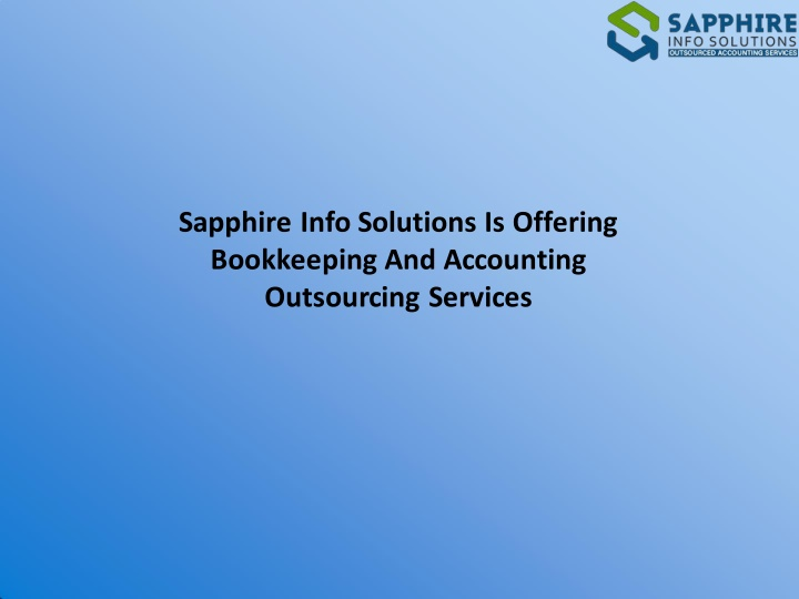 sapphire info solutions is offering bookkeeping n.