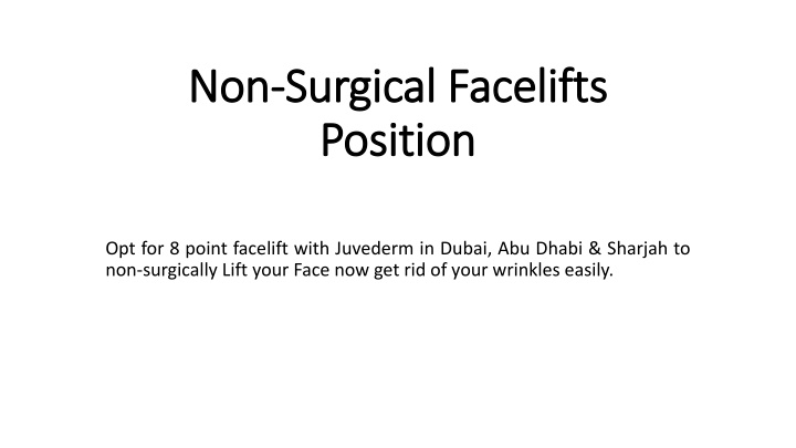 non surgical facelifts position n.