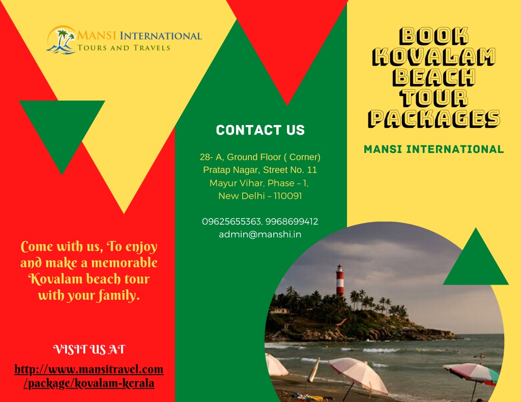 book kovalam beach tour packages l.