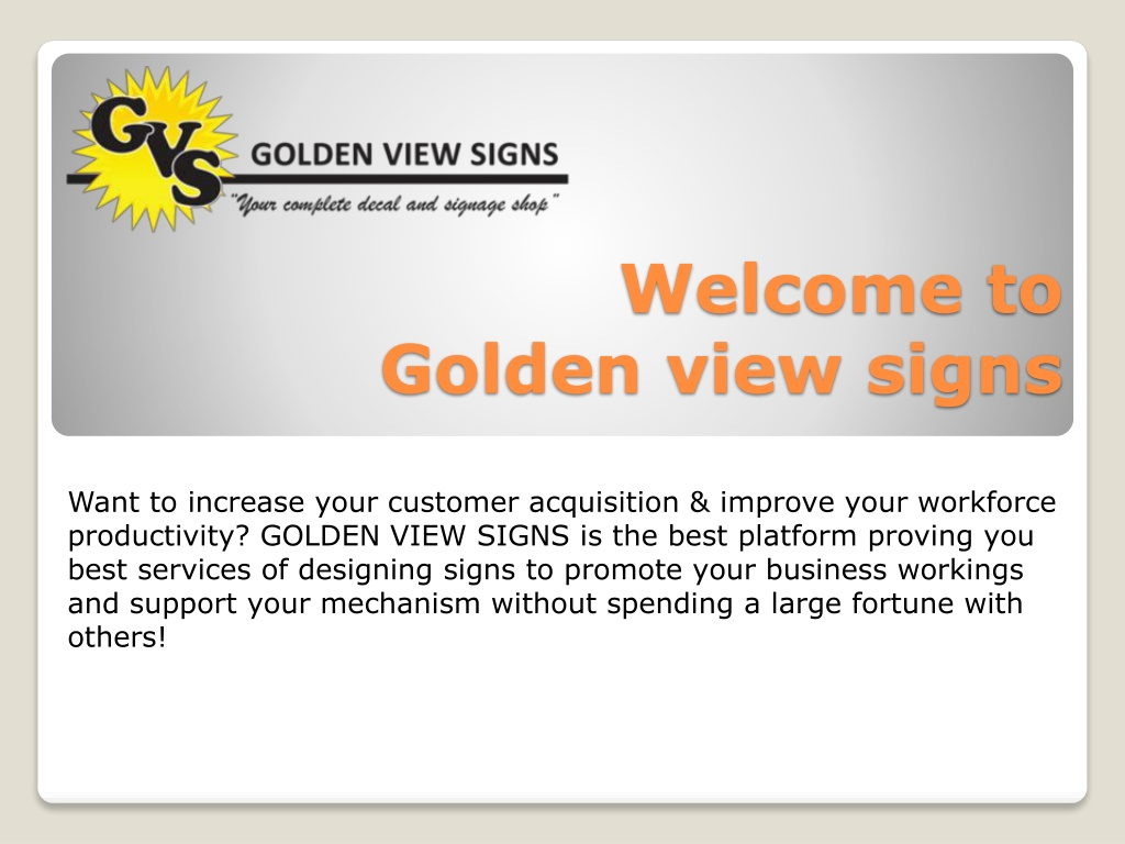 welcome to golden view signs l.