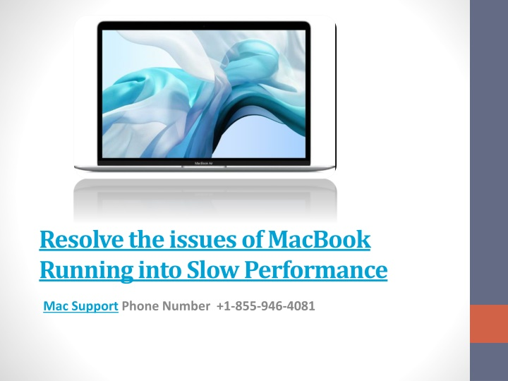resolve the issues of macbook running into slow performance n.