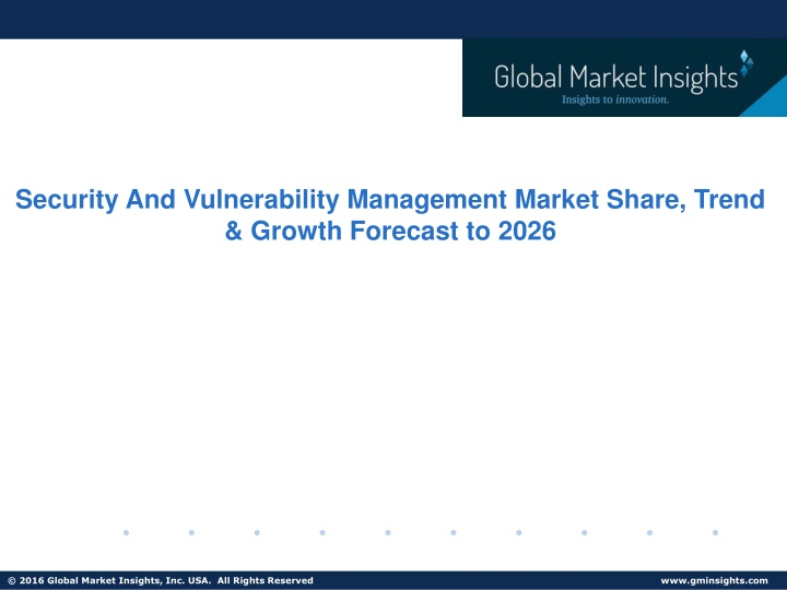 security and vulnerability management market n.