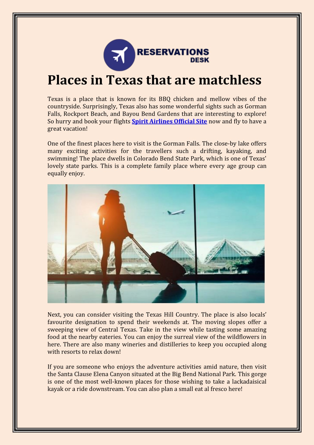 places in texas that are matchless texas l.