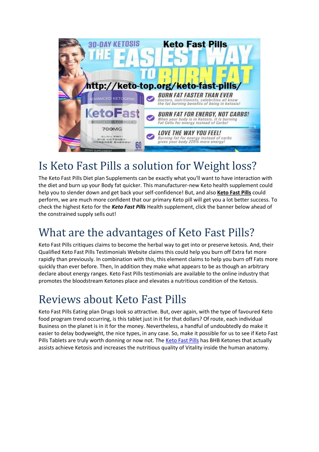 is keto fast pills a solution for weight loss l.