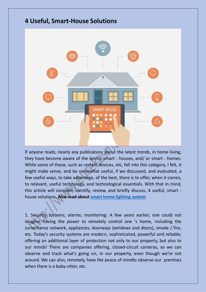 4 useful smart house solutions n.