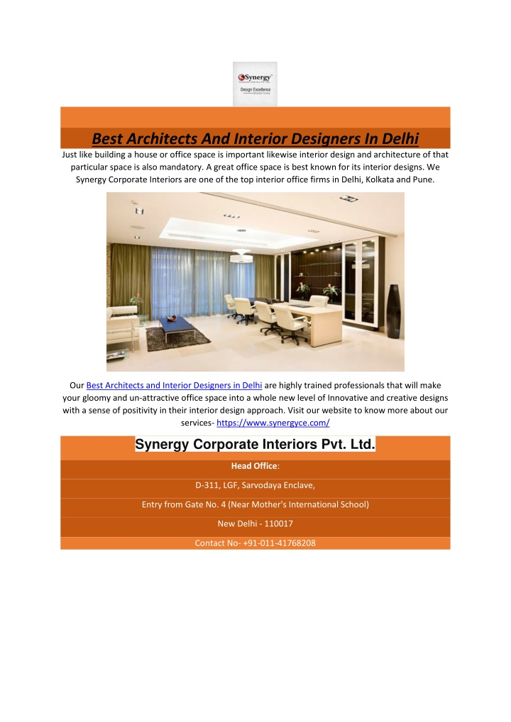 best architects and interior designers in delhi n.