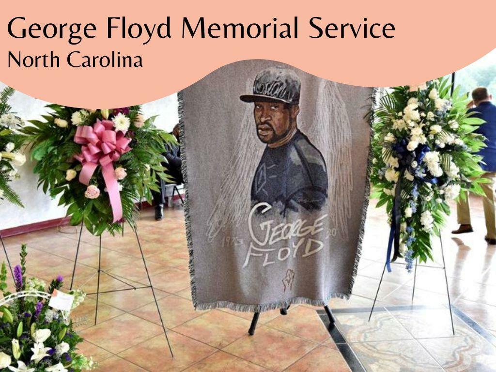 Memorial for George Floyd in North Carolina