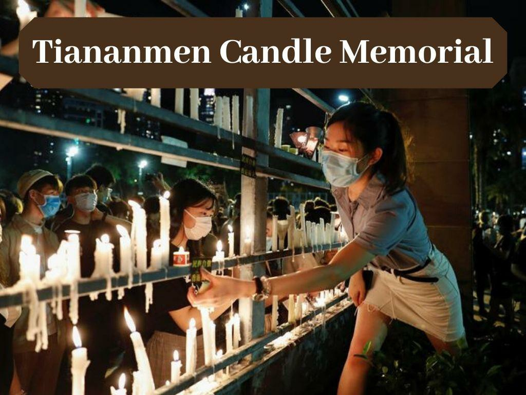 hong kongers defy ban and hold tiananmen candle memorial l.