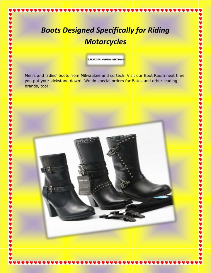 boots designed specifically for riding motorcycles n.